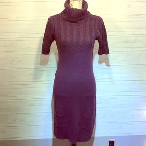 City Triangles Purple Sweater Dress Large